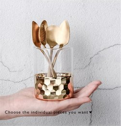 $enCountryForm.capitalKeyWord Australia - Hot Selling 304 Stainless Steel Cuddly Ice Cream Dessert Pudding Mixing Stir Spoon Gold Color Butter Knife 480pcs