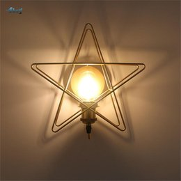 children room wall lamp Australia - Creative Green Pink Star Wall Lamp For Children Bedroom Study Kids Bedside Light Wall Art Living Room Decoration Fixtures Led