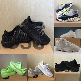 Toddler sneakers online shopping - Baby Kids Shoes Wave Runner Running Shoes Clay V2 Static Reflective Kanye West Beluga Sneakers Boy Girl Toddler Trainer