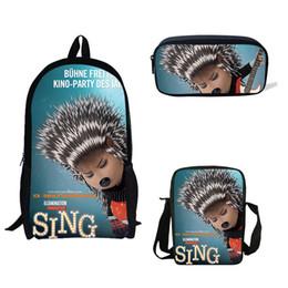 $enCountryForm.capitalKeyWord Australia - 3 PS Set Cartoon Sing Backpack Animals Girls Children School Bags For Teenager Boys&Girls School Backpack Women Book Bag