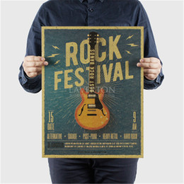 Guitar Wall Stickers Australia - Music Guitar C Style Poster Bedroom Wall Poster Home Decor Modern Rock Wall Sticker for Decor 47X36cm