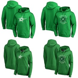 dallas black jersey UK - Dallas Stars Green St. Patrick's Day Luck Tradition Pullover Hoodie 14 Jamie Benn 17 Andrew Cogliano 36 Mats Zuccarello Taylor Fedun Jerseys