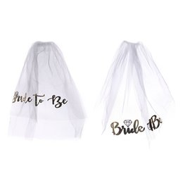 $enCountryForm.capitalKeyWord UK - 1PC!!! Bachelorette Party Supplies Veil Black Bride To Be Veil Bridal Shower Wedding Decoration Hen Party Bride Party Decor