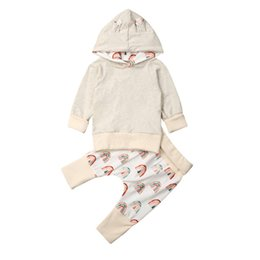 spring baby clothing Australia - 5404 New Spring Autumn Infant Baby Boys Girls Clothes Set Kids Long Sleeve Hooded Sweatshirt + Pants Children 2pcs Outfits