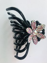 Girls hair ponytail clips online shopping - Czech diamond hair Grab clip for girl and woman in different colors
