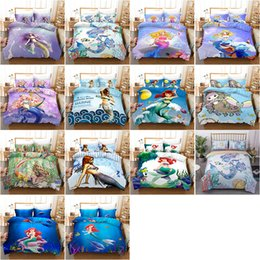 Solid pink quilt online shopping - Designer Bedding Sets set Cotton Solid Color Mermaid Quilt Cover Duvet Cover Pillowcase Soft Home Luxury Bedding