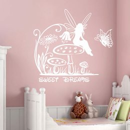 $enCountryForm.capitalKeyWord Australia - Fairy Wall Decals Princess Stickers Sweet Dreams Vinyl Sticker Girl Nursery Pretty Decor New Baby Rooms Design Wallpapers