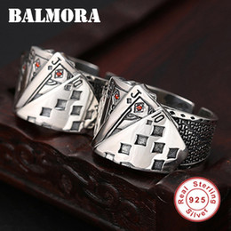 $enCountryForm.capitalKeyWord NZ - Balmora 925 Sterling Silver Playing Cards Open Rings For Men Unique Design Being Old Style Ring Fashion Jewelry Anillos Sy22232 J190714