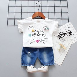 $enCountryForm.capitalKeyWord NZ - Baby girls summer clothes sets newborn baby casual cotton t-shirt+short pants 2pcs tracksuits for girls infant sports suits toddler outfits