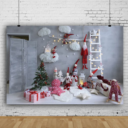 new years photography backdrop Australia - Dream 7X5ft Christmas Interior Room Photography Backdrop Cloud Ladder Christmas Tree Gifts Decor Prop Photo Backdrops for New Year Party
