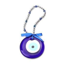 Evil Eye Pendants Turkey Australia - 1pc 25cm turkey blue evil eye Acrylic necklace 87mm glass charms pendant jewelry accessories findings for women diy car keychain