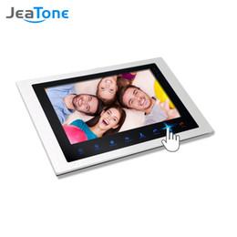 JeaTone 10''big Schermo porta telefono citofono Monitor Touch Sensor Button