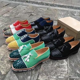 $enCountryForm.capitalKeyWord Australia - 2017 New Christian Christians Red Metal tangerine Multicolored CLs red shoes rivet Doug shoes Leather sneakers