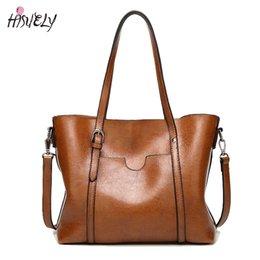 $enCountryForm.capitalKeyWord Australia - ladies shoulder Large Capacity Tote Fashion Women Handbag PU Oil Wax Leather Women Bag Big Ladies Shoulder Bags Bolsas Feminina