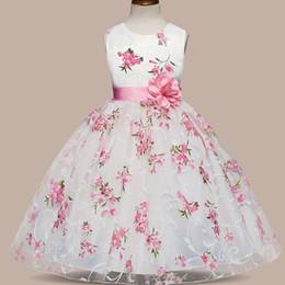 Clothes Wear For Kids Australia - Summer Little Kid Dress Princess Dresses Floral Girls Children Clothing Kids Clothes For Girl Tutu Party Wear Teens Events Wear J190505