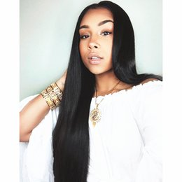 hair dye for black women 2019 - Malaysian Hair Lace Front Human Hair Wigs For Black Women silky Straight Lace Wig Full lace wigs With Baby Hair can be d