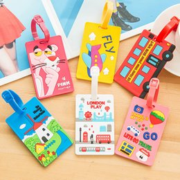 label board Australia - Luggage Tag Cute Travel Accessories Tag Silica Gel Suitcase ID Addres Holder Baggage Boarding Tag Portable Label