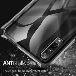 tempered glass metal frame NZ - For Huawei Honor 9X Luxury Metal Armor Case Aluminum Frame Bumper Transparent Tempered Glass Phone Cover For Huawei Honor 9X Pro