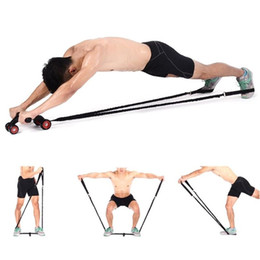 Abdominal Muscle Wheel Auxiliary Pull Rope Gym Fitness Ab Roller Resistance Bands Fitness Equipment without wheel YYA11 100Pcs on Sale