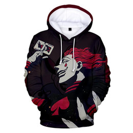 Wholesale discount sweatshirts hoodies for sale - Group buy Rare Printed hisoka D Hoodies Men women sweatshirt Discount price High Quality Long sleeved big size Pullovers