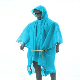 car clear coating Australia - 3F UL GEAR 3 in 1 Multifunction Poncho Raincoat For Hiking Fishing Mountaineering Coated Silicon Outdoor Sleeveless