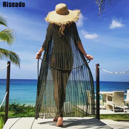 $enCountryForm.capitalKeyWord Australia - Riseado New 2019 Beachwear Cover Up Bikinis Sexy Mesh Long Beach Dress Swimwear Women Half Sleeve Swimsuit Bathing Suits Y19071801