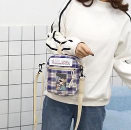 $enCountryForm.capitalKeyWord Australia - Women Crossbody Bag Printed Grid Casual Tote Outdoor Bag Canvas Handbag Zipper Shoulder Small Messenger Bag Womens Handbags Free Shipping