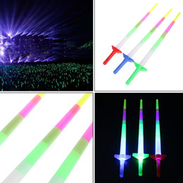 Toy Swords Wholesale Australia - High Quality New Rainbow Laser Sword Extendable Light Up Toys Flashing Wands Led Sticks Party dc294