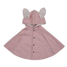 5edef01515c8f2 2019 Winter Kinder Mädchen Cape Jacke Strickjacke Rosa 100% Baumwolle  Mädchen Mantel Für 1 2 3 4 5 6 Jahre Alt Kinder Kleidung RKC195001
