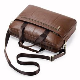 Leather Bag For Inches Australia - Male Maleta De Ferramenta Genuine Leather Man Briefcase For 15.6 Inch Laptop Men's Crossbody Bags Large Business Shoulder Bag