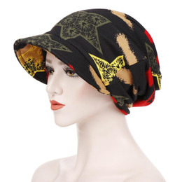 Cotton Cowboy Scarves Australia - New Spring And Autumn Super Bring Brim Of A Hat Will Along Cotton Print Ponytail Pullover Dual Purpose Hat Double-deck Keep Warm Scarf Hat