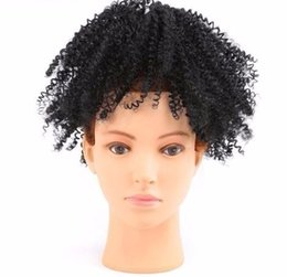 $enCountryForm.capitalKeyWord Australia - 2019 Puff Ponytail Extensions For Black Women Kinky Curly Drawstring Ponytail Hairpieces Clip In Ponytail