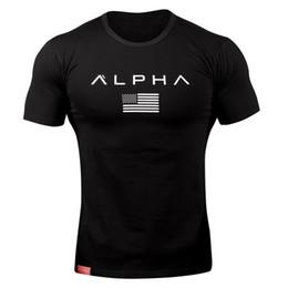 cotton spandex t shirt mens 2019 - Mens Running Skinny t shirt Summer Gym Fitness Training Cotton T-shirt Male Crossfit Bodybuilding Short sleeve Tee Tops