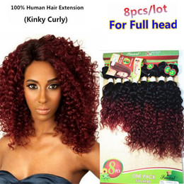 Wholesale 8-14 Inch brazilian deep wave hair T1B BUG kinky curly bundles loose wave hair 8 pieces pack natural black weave weft hairpiece