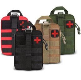 First Tools Australia - Outdoor Water First Aid Kits Travel Oxford Cloth Tactical Waist Pack Camping Climbing Bag Black Emergency Case