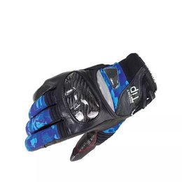 $enCountryForm.capitalKeyWord UK - Free shipping 2018 GK 819 Carbon Protect Winter Warm Velveted Gloves Motorcycle Track Biking Touring Gloves Blue Camouflage