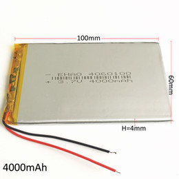 $enCountryForm.capitalKeyWord Australia - Model 4060100 3.7V 4000mAh Lithium Polymer LiPo Rechargeable Battery For DVD PAD Mobile phone GPS Power bank Camera E-books Recoder TV box