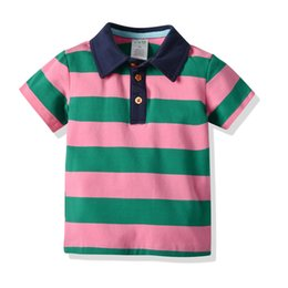 0a334083f Baby Boy T-shirt Short Sleeve Striped Summer Tops Clothes Cotton Soft For  Children 18M-7T Baby Sport T Shirt Clothing free shipping