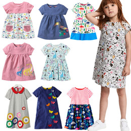 $enCountryForm.capitalKeyWord Australia - Miss Haiwo Children Brand 2018 Summer New Baby Girl 100% Cotton Cartoon Dinosaur Embroidery Style Girls Beach Vest Dress Dresses MX190724