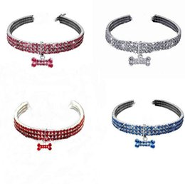 rhinestone dog collars leashes Australia - Bling Rhinestone Pet Dog Cat Collar Crystal Puppy Necklace Collars Leash For Small Medium Dogs Diamond Jewelry YZ289