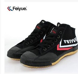 Discount shoes seniors - free shipping Feiyue Canvas shoes for male and female senior tennis shoes, casual shoes, canvas couple high-top sneakers