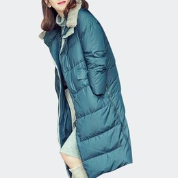 Jackets ladies winter wear online shopping - Winter New Fashion Ladies Long Cotton Padded Jackets Loose Oversize Bread Down Jackets Female Street Wear Thick Warm Coats