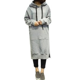 Dress Women Ladies Hooded Plus Size Autumn Sweatshirt Long Sleeve Hoodies Jumper Black Mini Dress 4xl 5xl Solid Pocket To Enjoy High Reputation At Home And Abroad Women's Clothing