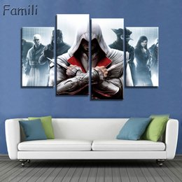 $enCountryForm.capitalKeyWord NZ - Modern Wall Art Painting Canvas HD Print 4Panel Poster Assassins Creed Superstar Movie Modular Pictures Home Decor UNFrame