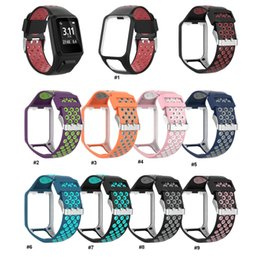 Plastic Wrist Bracelet Watches Australia - Dual colors Wrist Band Strap for TomTom 2 3 Runner Spark Music Replacement Bracelet Soft Watchband Silicone Belt Watch Bracelet Accessory