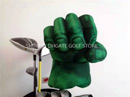 Chinese  Green Hands Fist Boxing Golf Driver Headcover Strong Golf 460cc Wood Head Cover Sporting Goods Club Accessories Mascot Novelty Great Gift manufacturers