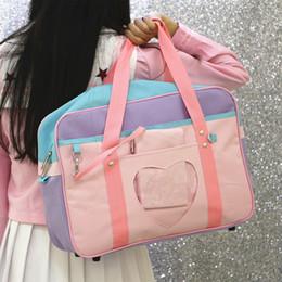 Bags For Girls NZ - Pink Travel Bag Shoulder School Bags for Women Girls Weekend Beach Bag Canvas Large Big Luggage Handbags Totes Bolsas Preppy