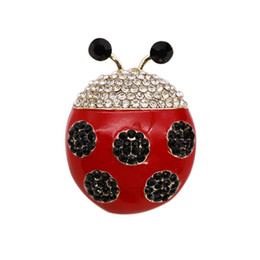 ladybug clothing UK - Originality Diamond Seven Star Ladybug Brooch Alloy Electroplate Insect Women's Brooch Clothes & Accessories Parts Product