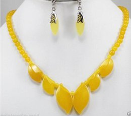 Yellow onYx jewelrY online shopping - Prett Lovely Women s Wedding shipping gt gt Jewelry Yellow gem Necklace Earring Set silver jewelry Natural boucle