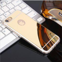 $enCountryForm.capitalKeyWord Australia - Mirror Case Electroplating Chrome Ultrathin Soft TPU Phone Case Plating Back Cover For Samsung Galaxy S7 S8 S8 Plus iphone 6 7 7 Plus 8 plus